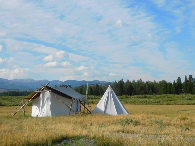 Yellowstone under canvas slaapplek