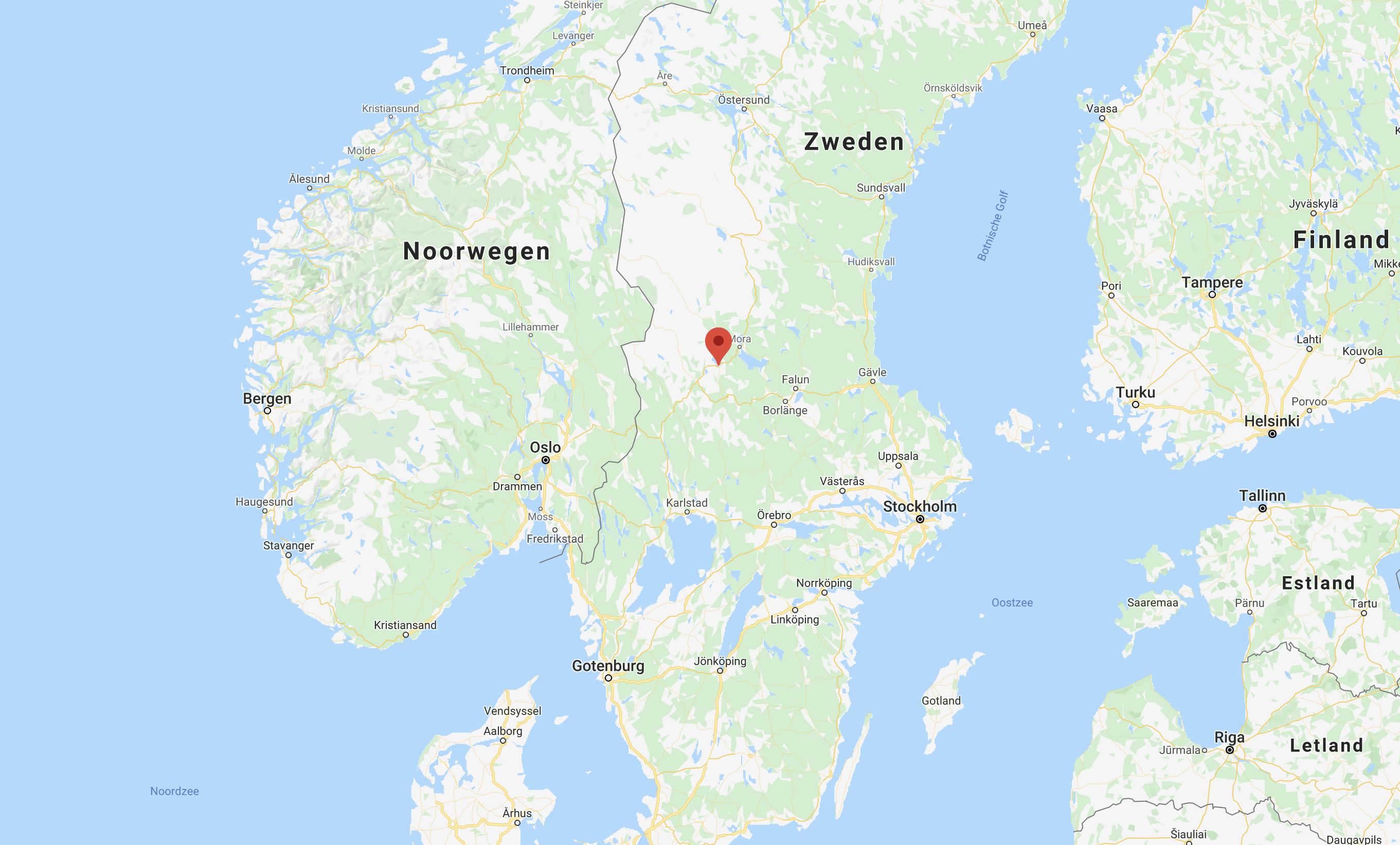Johannisholm Zweden op de kaart