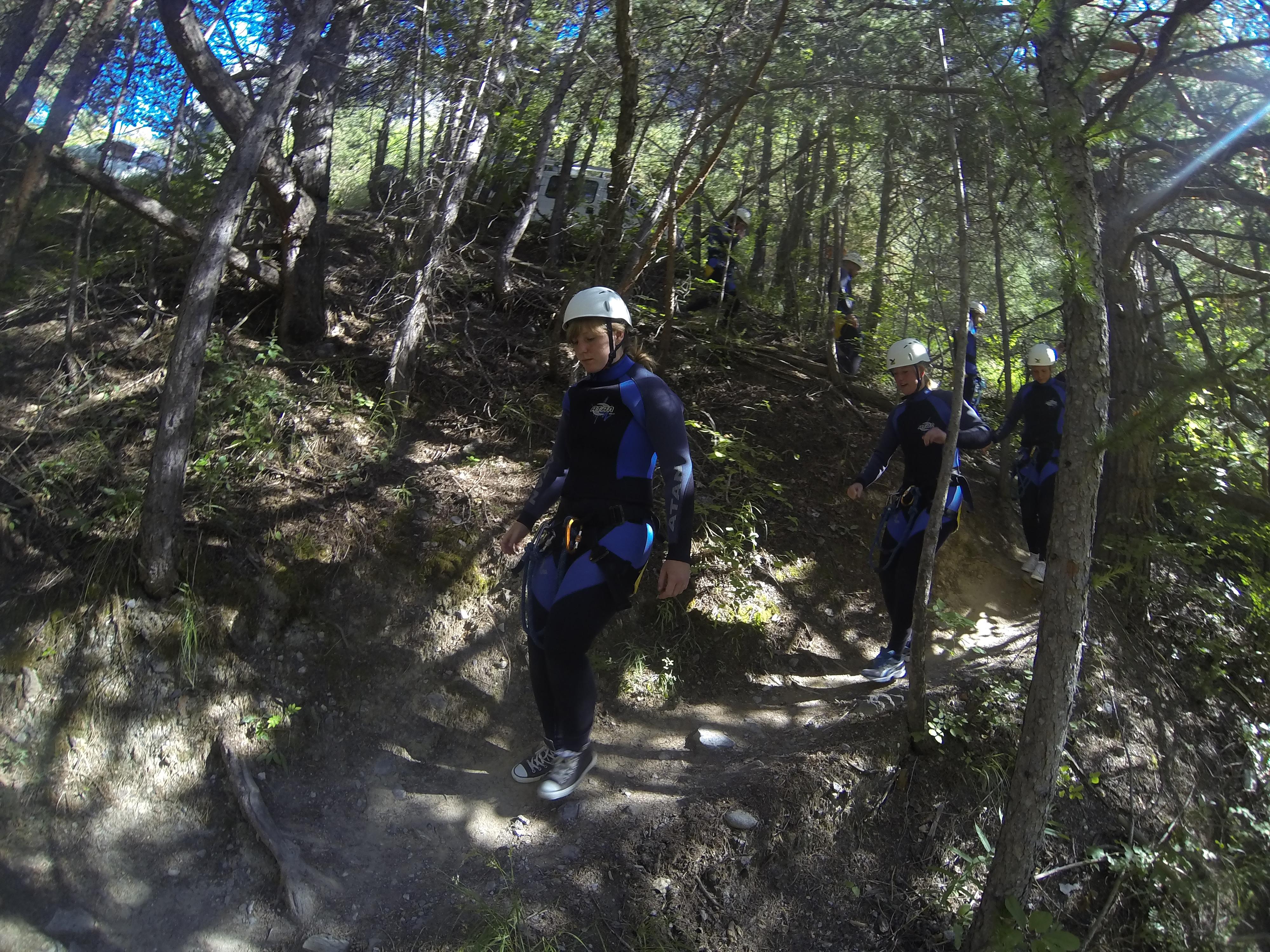 eerste keer canyoning