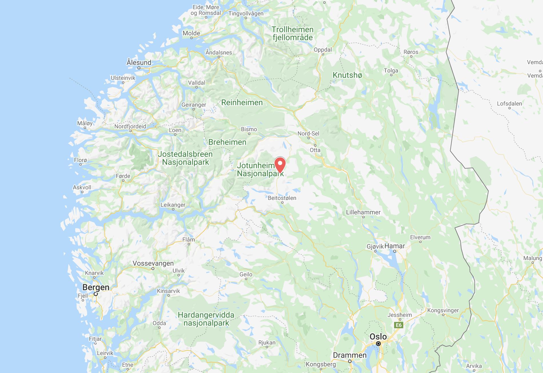 Noorwegen overnachtingslocatie
